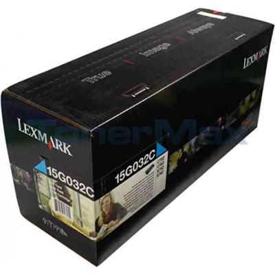 LEXMARK C752 LASER PRINT CART CYAN 15K
